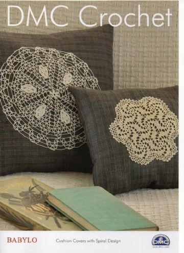 DMC Babylo Cushion Covers with Spiral design Crochet Pattern.